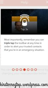 printscreen Aspire News app: 3 x Tappen op de top-bar schakelt door jouw gekozen hulplijnen in.