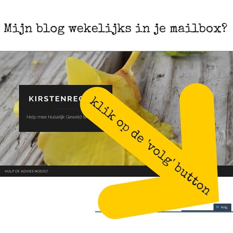 Mijn blog wekelijks in je mailbox?