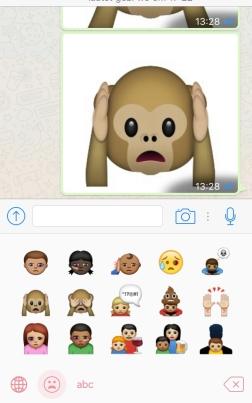 screen afbeelding van Abused emojis